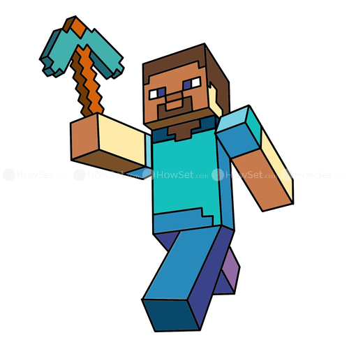 Steve transparent clip art minecraft. Characters clipart at getdrawings
