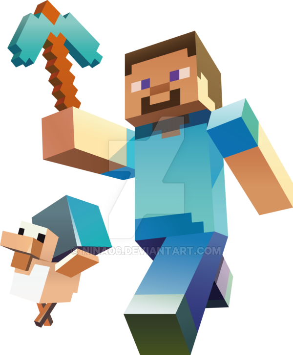 Steve transparent clip art minecraft. Free vector huge