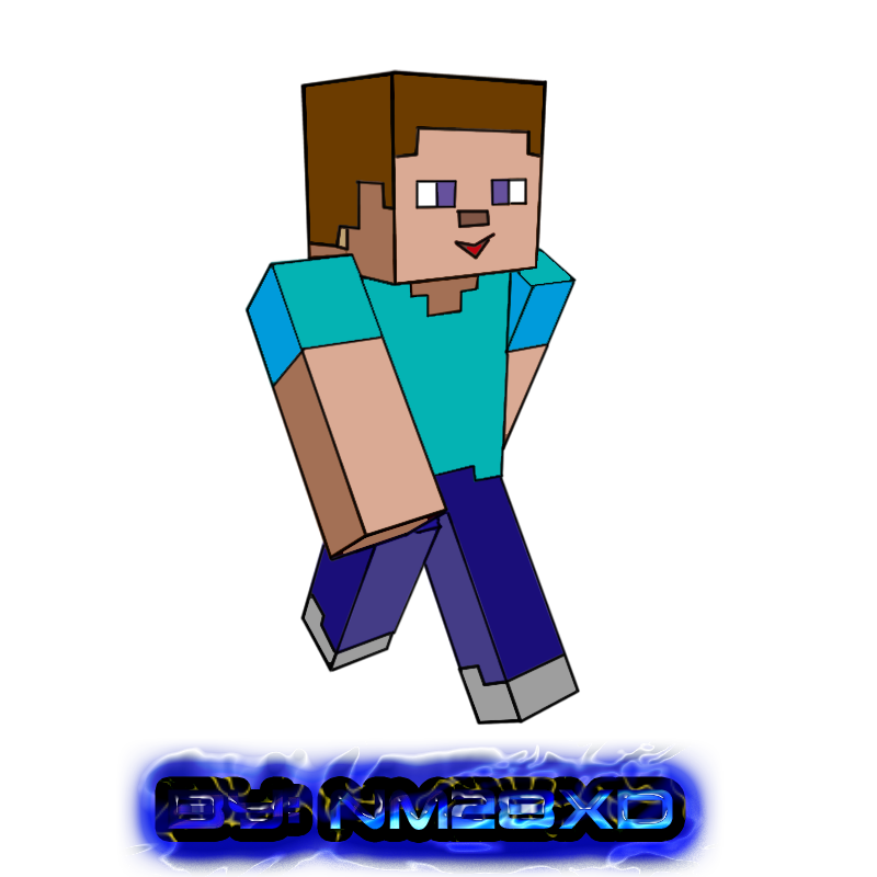 Steve transparent minecraft drawing. Skin toon by nm