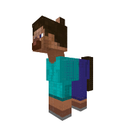 Herobrine transparent minecraft steve. Red eyes pony