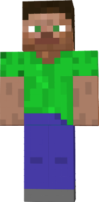 Steve transparent outline minecraft. Green nova skin