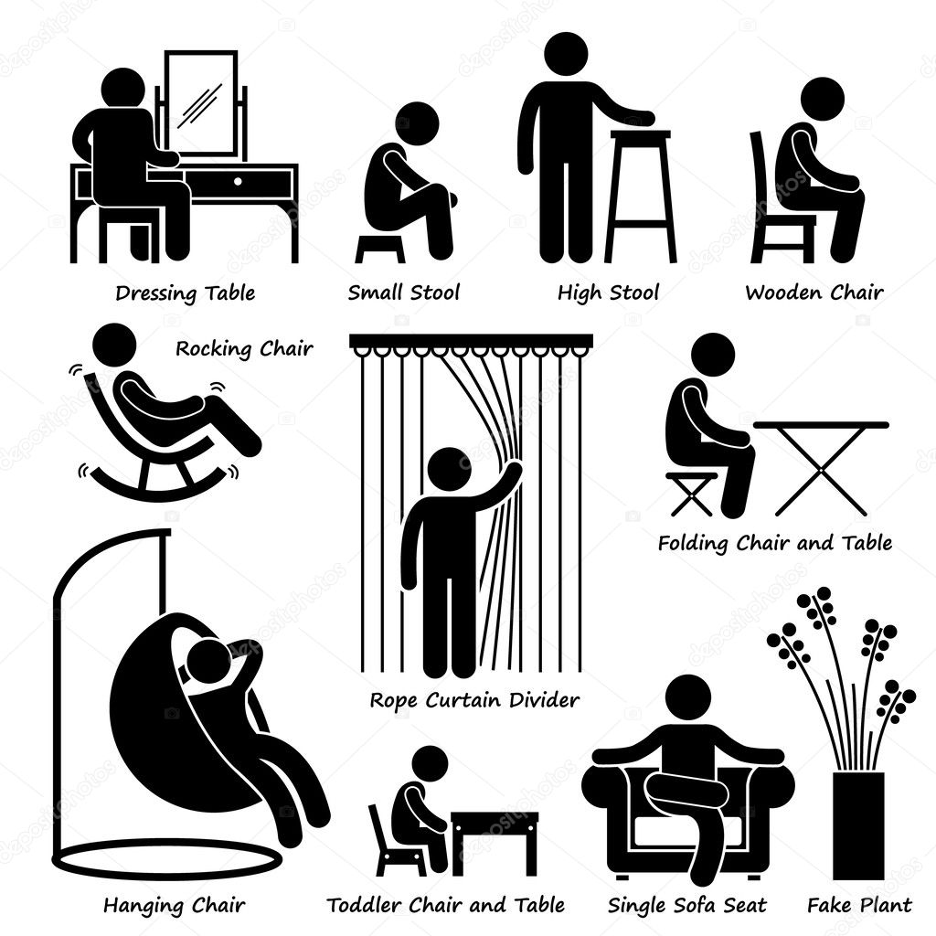 Stick clipart small. Home house furniture and