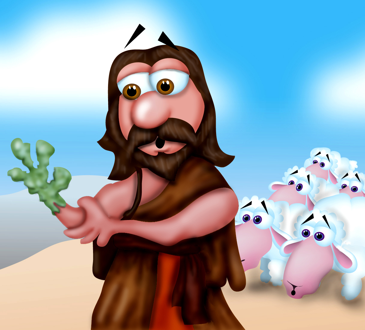 Stick clipart staff moses. Mr biblehead turns into