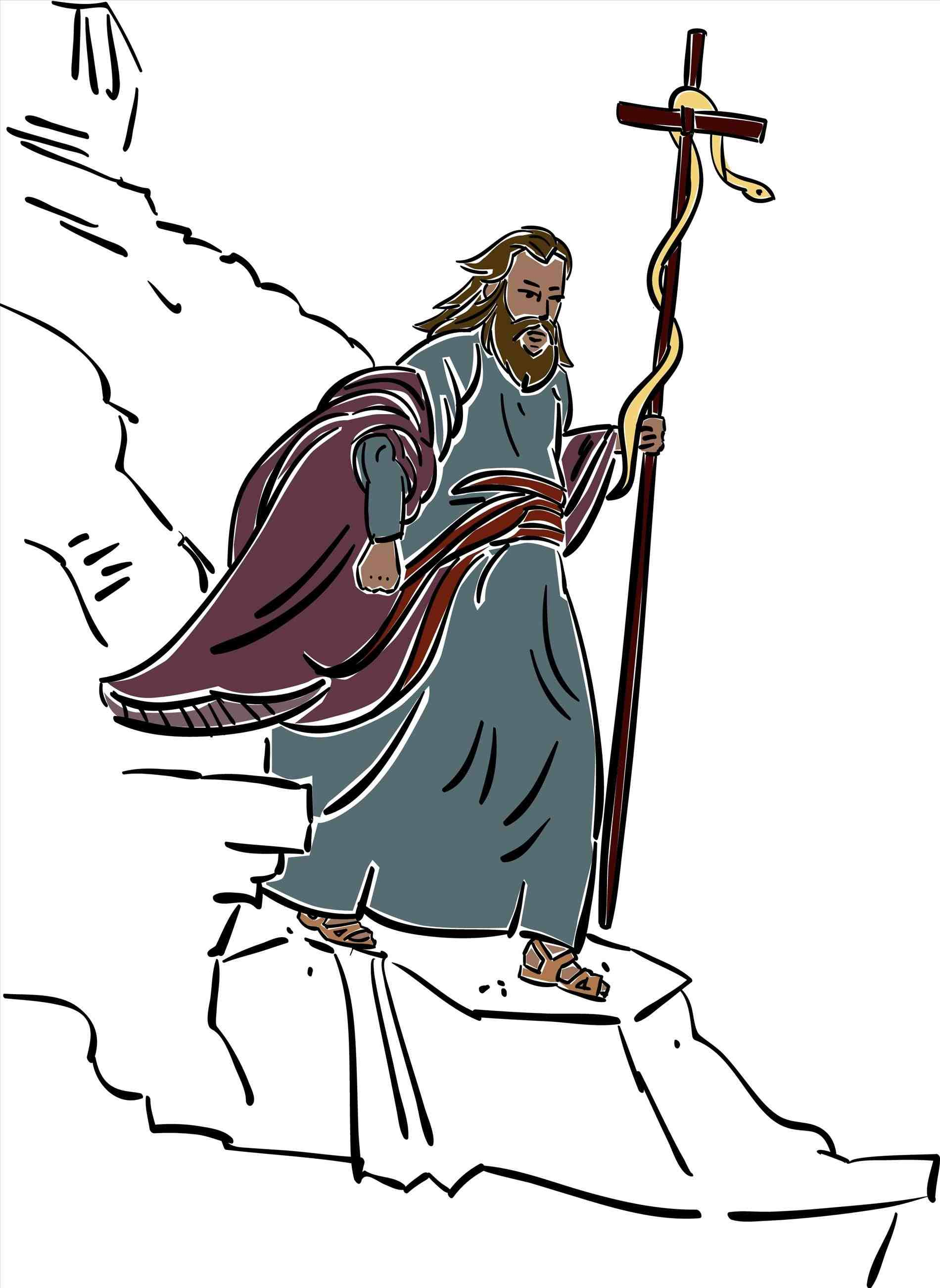 Stick clipart staff moses. Snake gif review
