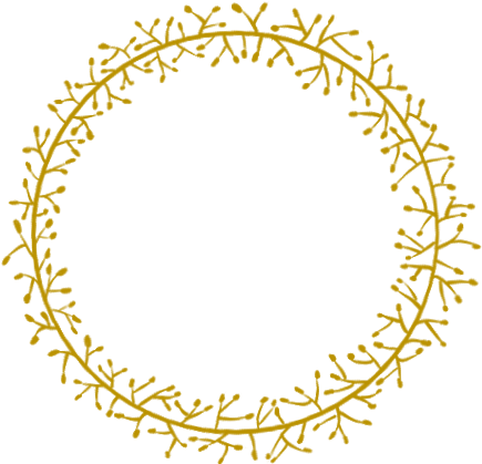 Gold twigs vinesandleaves wreath. Sticks clipart twig leaves banner black and white library