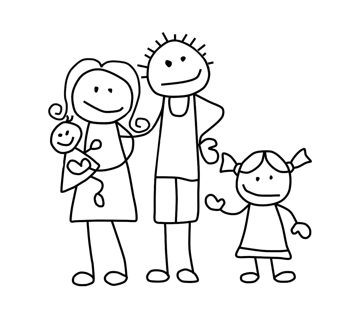 Stick family png. Collection of drawing