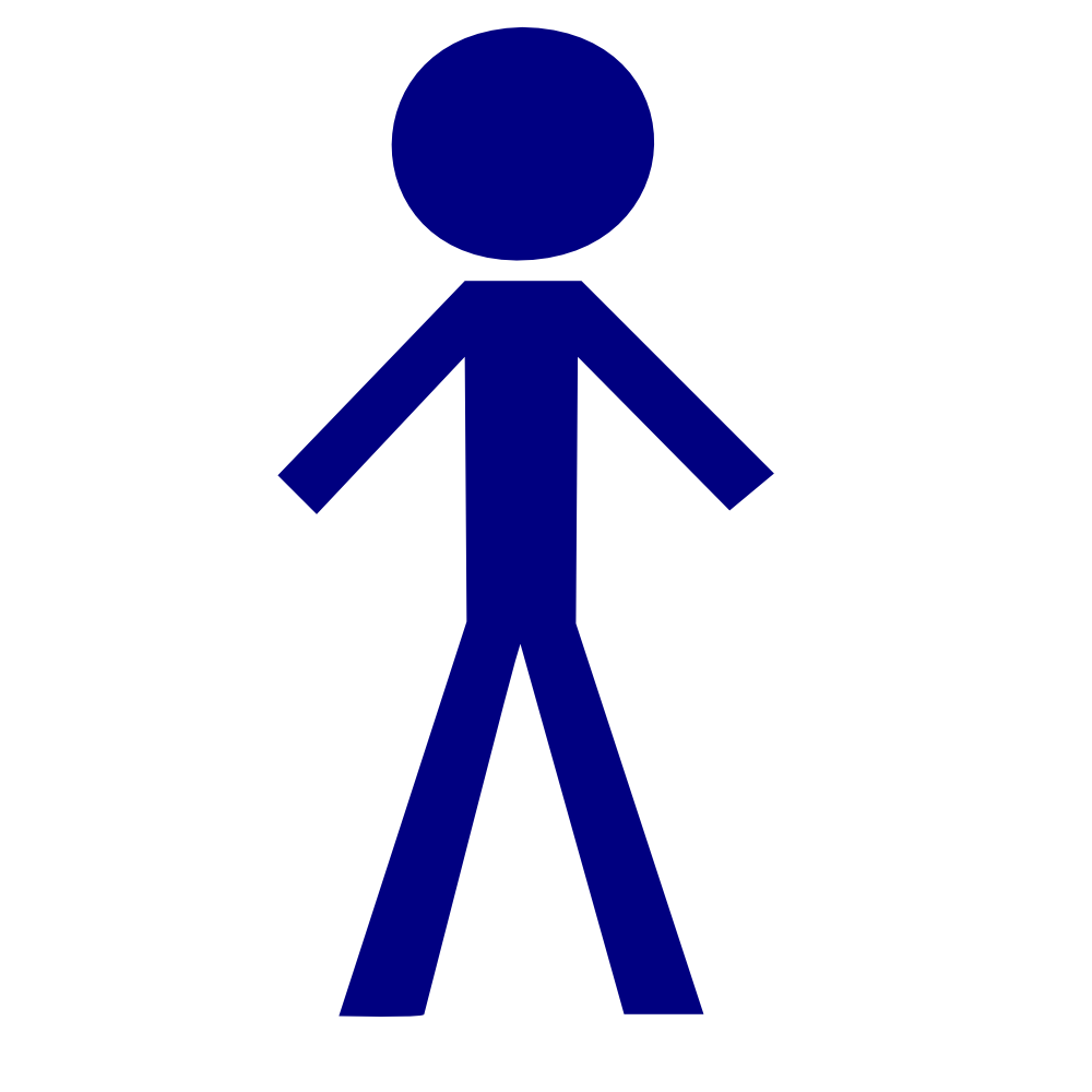 Stick figure clip art png. Onlinelabels icon tall male