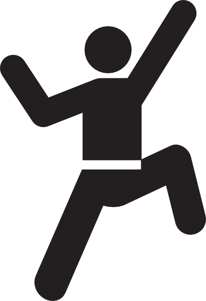 Stick figure going up the stairs png. Climbing man clip art