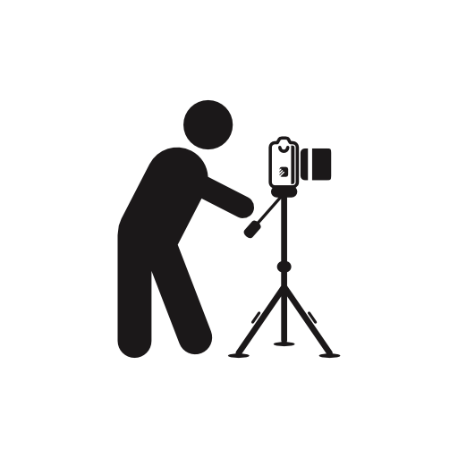 Stick figure standing side view png. Photographer behind photo camera