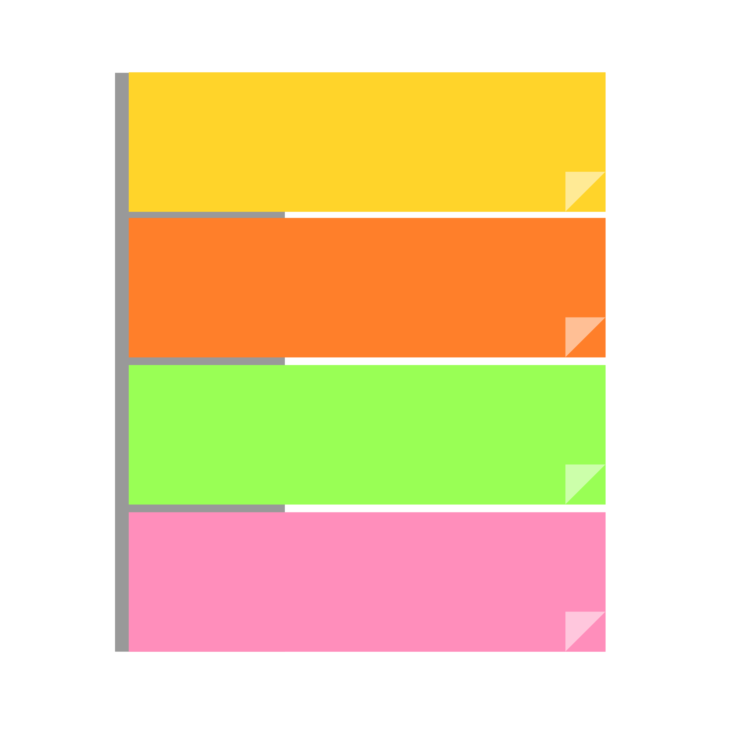Colorful post it notes png. Clipart office stationery sticky