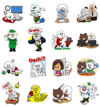 Sticker line png download. Moon special singaporean student