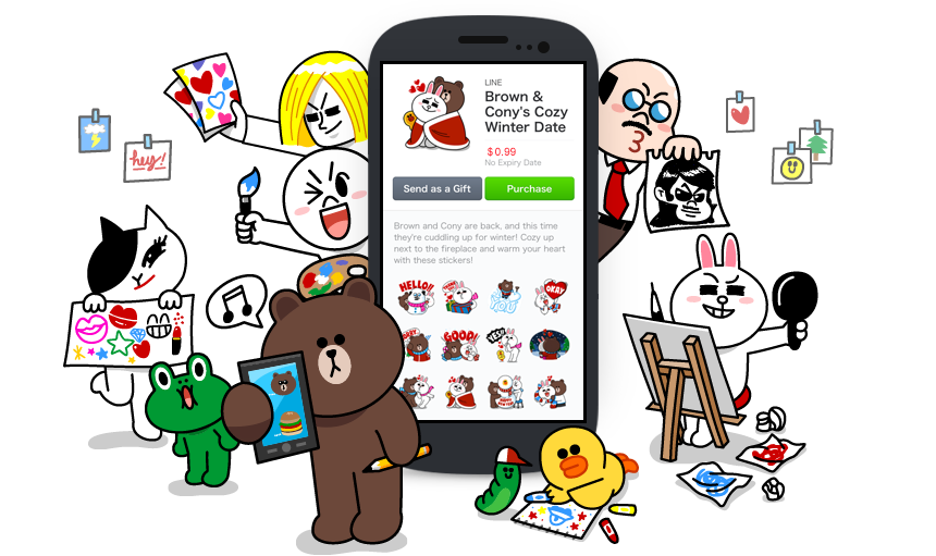 Sticker line png download. Creators market stickers from