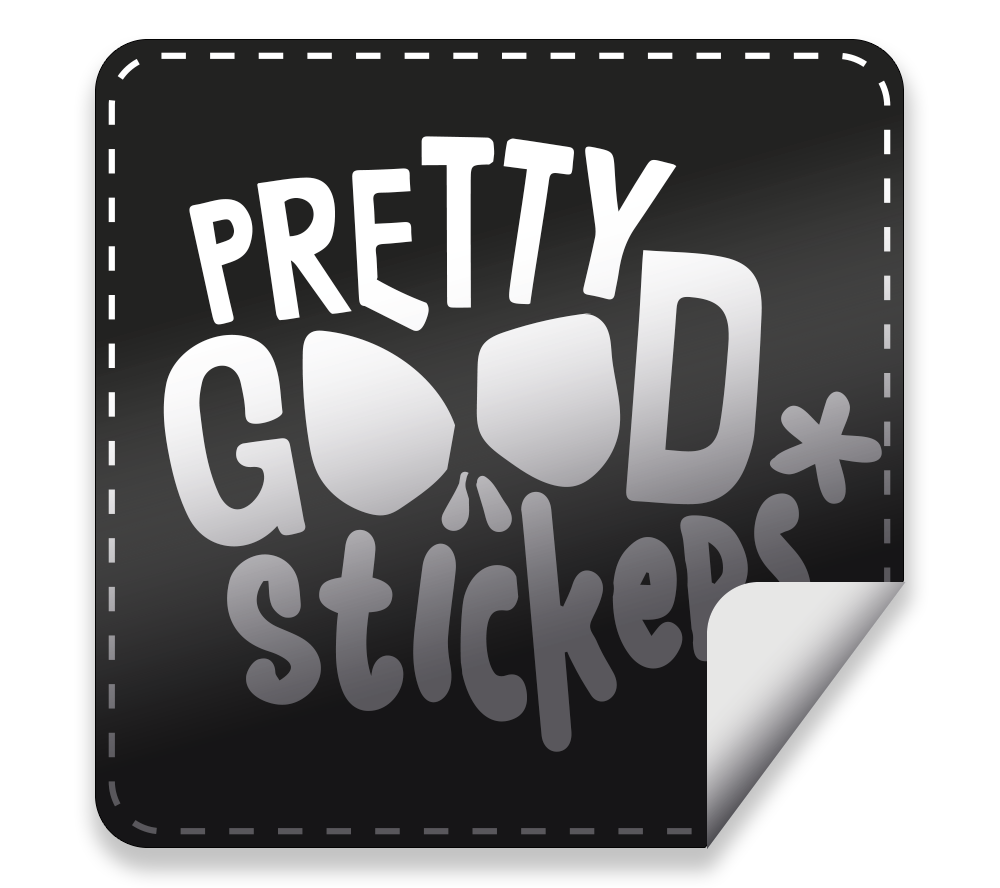 Sticker transparent matte. Stickers prettygoodstickers