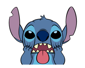 Sticker transparent stitch. Animated stickers by the
