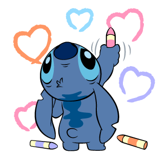 Sticker transparent stitch. Stickers disney lilo art