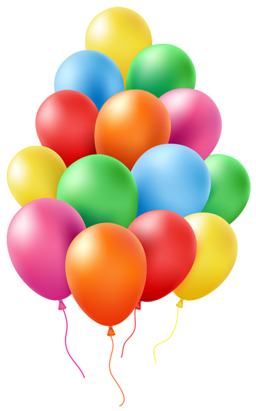 Stickers transparent birthday. Balloons clip art png