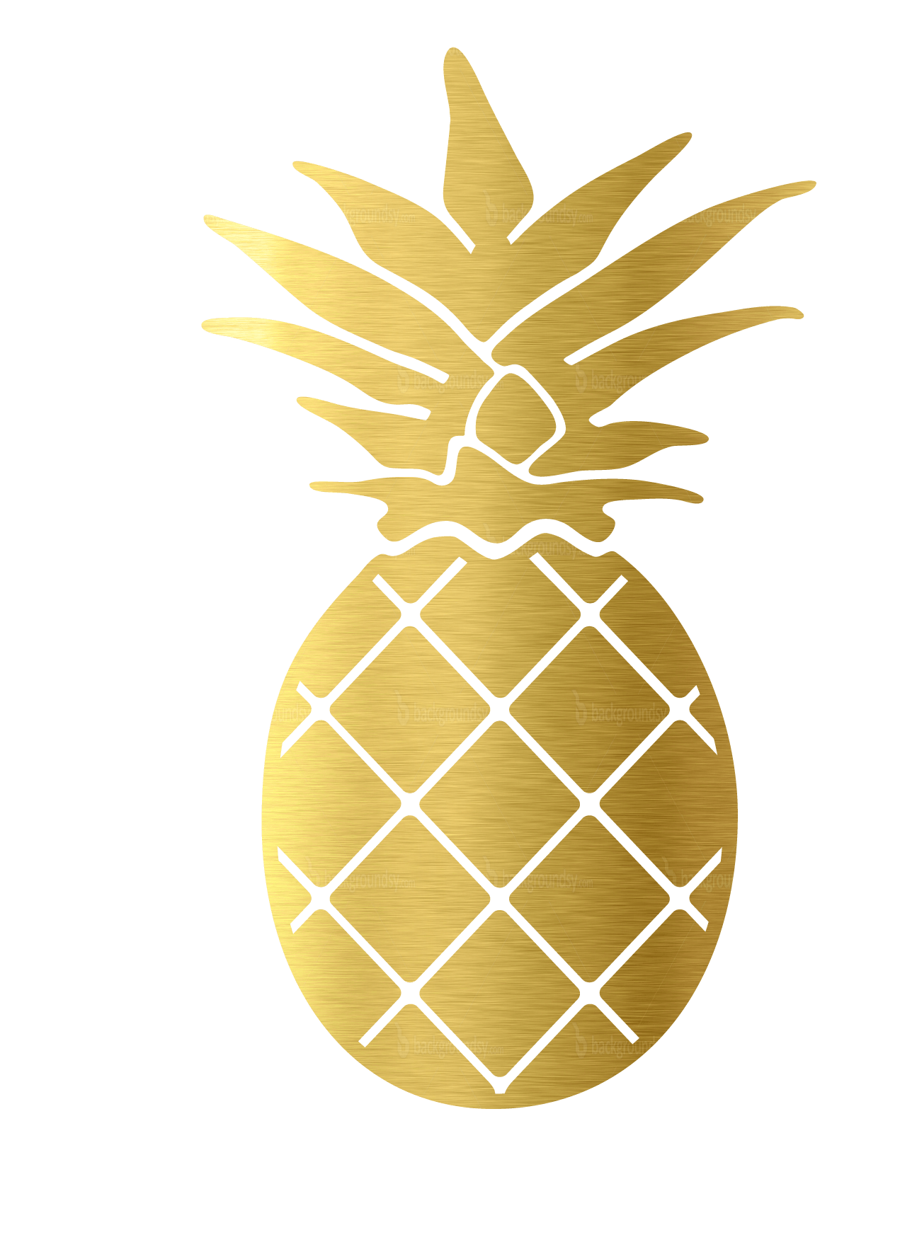 Stickers transparent gold. Decals palmetto moon pineapple