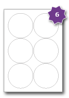 Stickers transparent inkjet. Round paper labels per