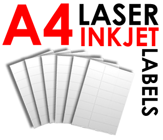 Stickers transparent inkjet. A laser labels and