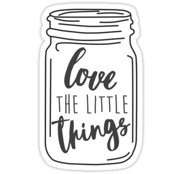 Stickers transparent jar. Enjoy the little things