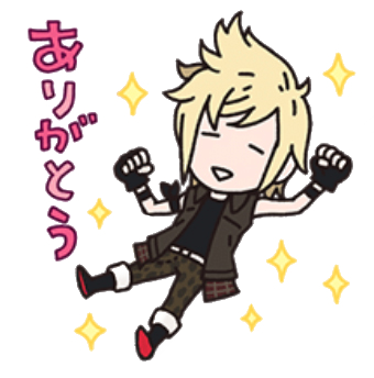 Stickers transparent line. Nyaawn official ffxv holy
