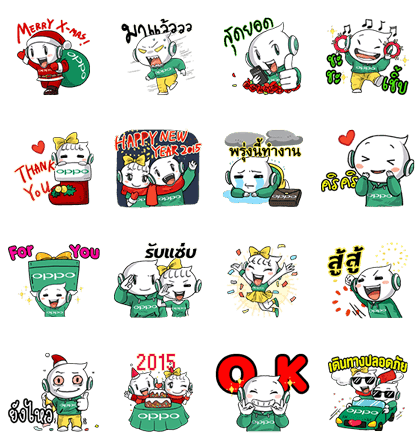 Stickers transparent opp. Line n oily season
