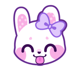 Stickers transparent pastel. Bunny by cute galaxy