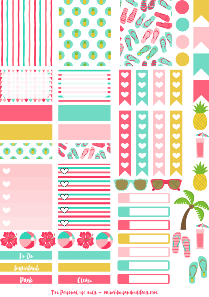 Stickers transparent printable. Planner series best free