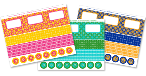 Stickers transparent printable. Paper tape labels and