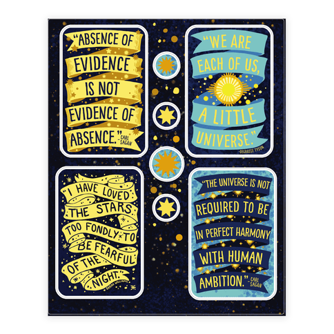 Stickers transparent science. New years top collection