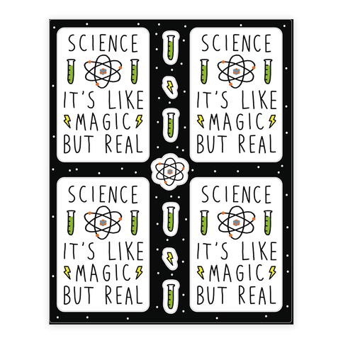 Stickers transparent science. Sticker decal sheets lookhuman
