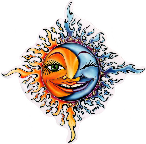 Stickers transparent sun. Moon window sticker decal