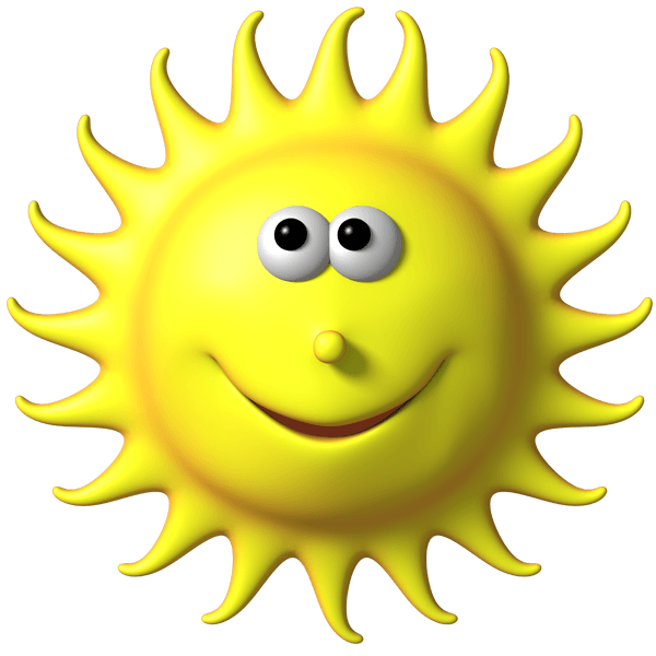 Stickers transparent sun. For kids funny