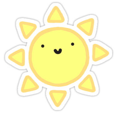 Stickers transparent sun. Happy tumblr hipster trendy