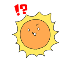 Stickers transparent sun. By mike sticker