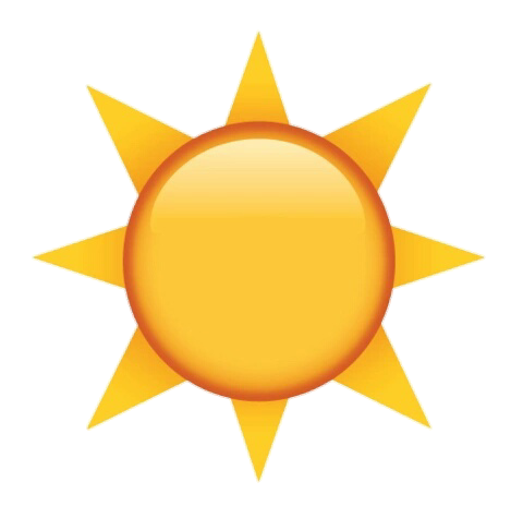 Stickers transparent sun. Emoji tumblr sticker by
