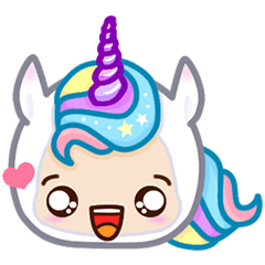 Stickers transparent unicorn. Emoji line store