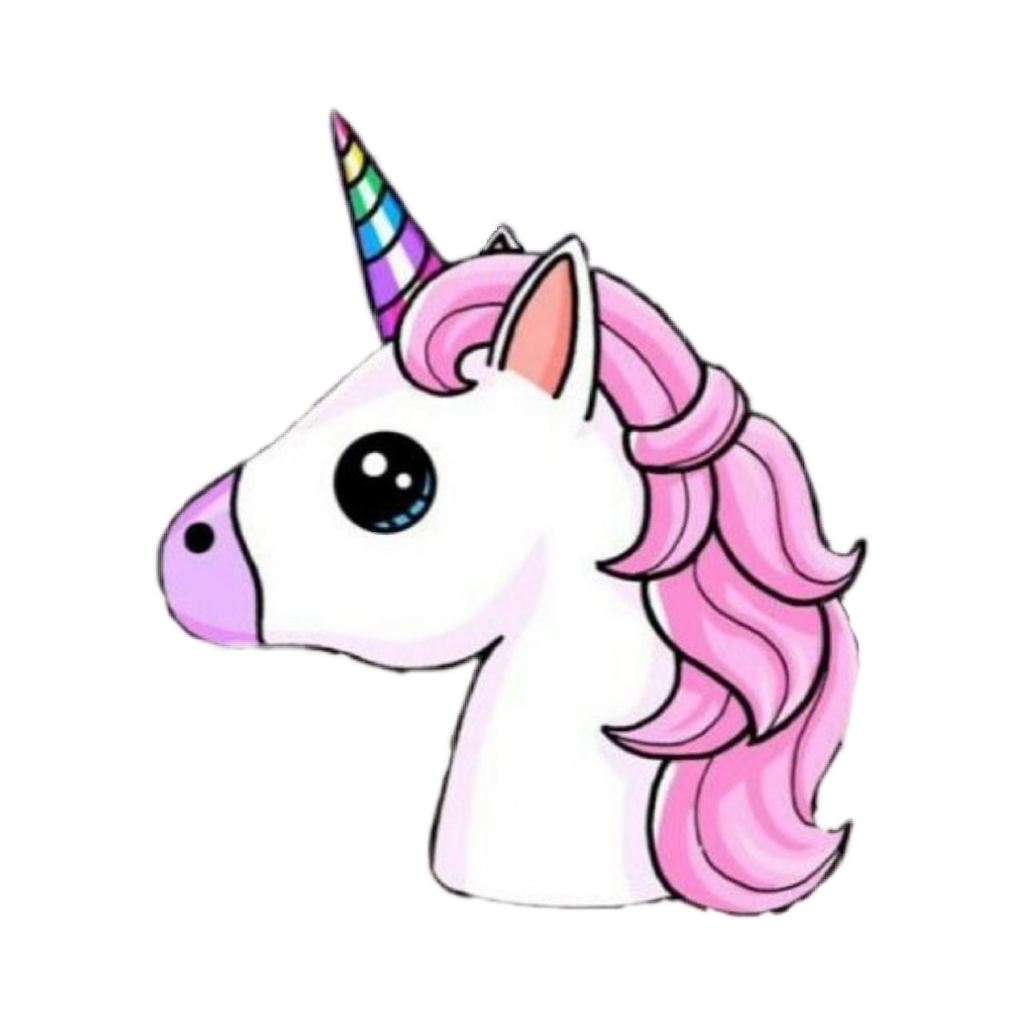 Stickers transparent unicorn. Unicorns pink cute emoji