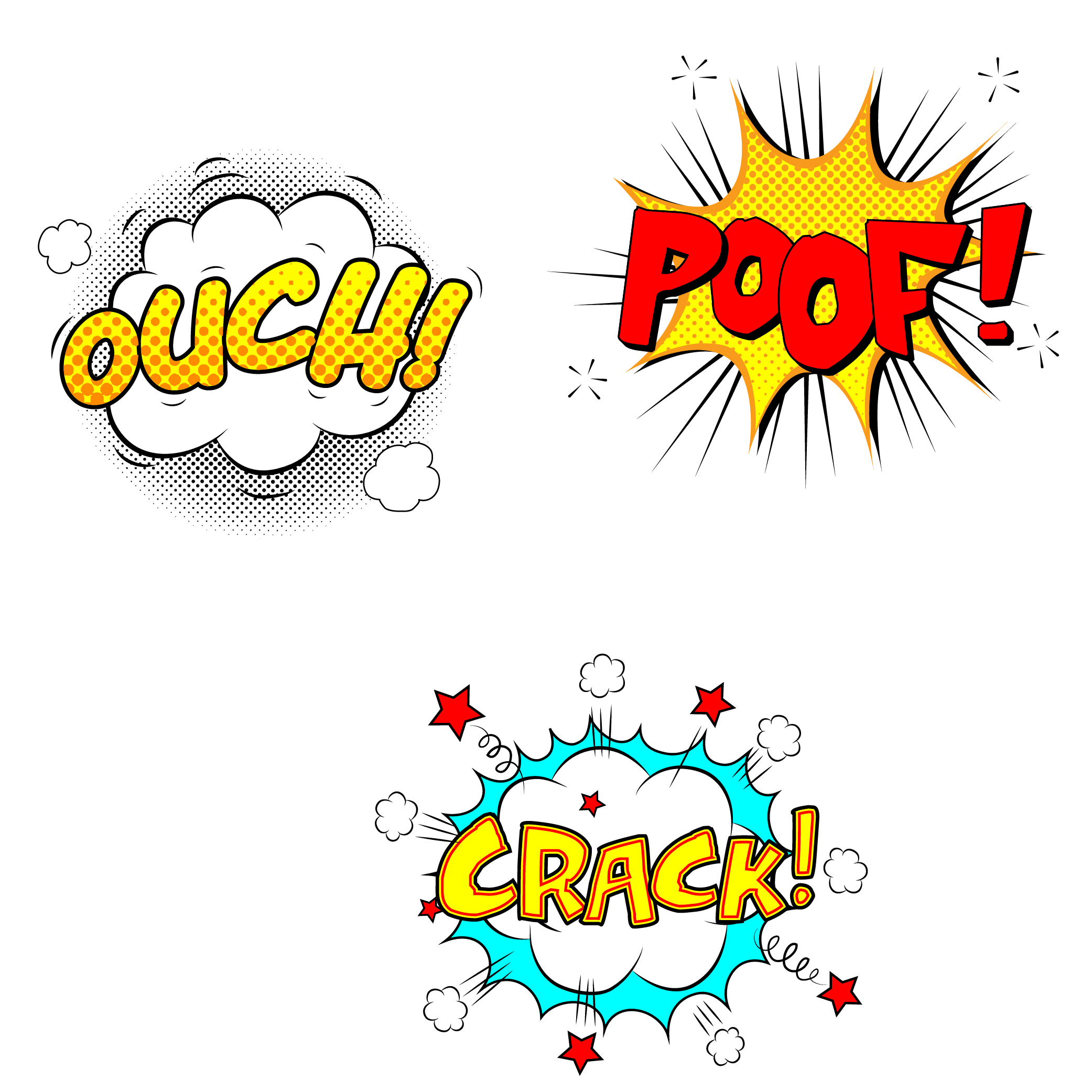 Stickers vector. Explosion transprent png free
