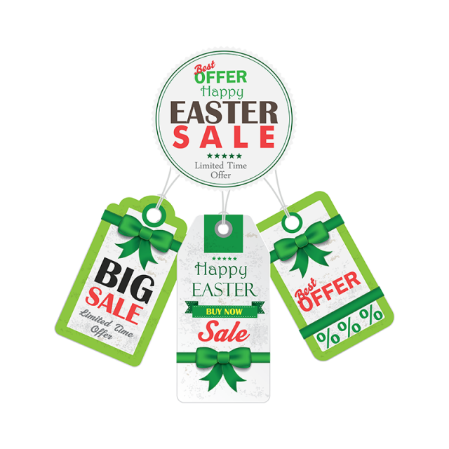Stickers vector. Easter day sale png