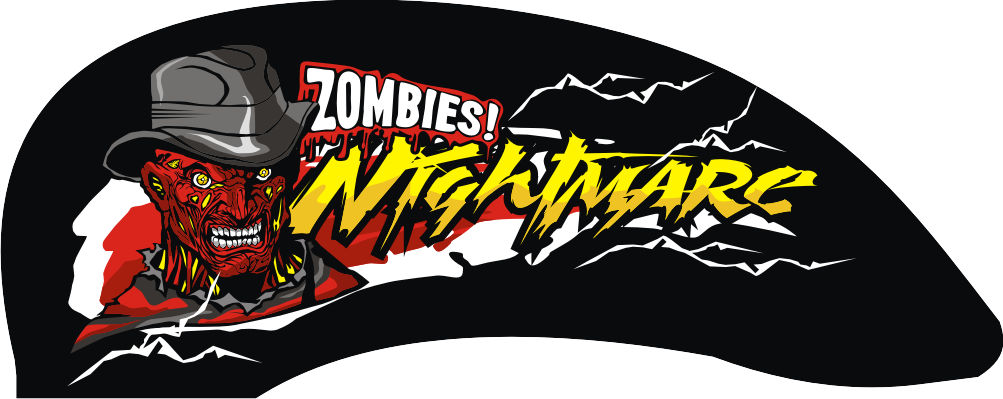 Stickers vector cdr. D zombies for