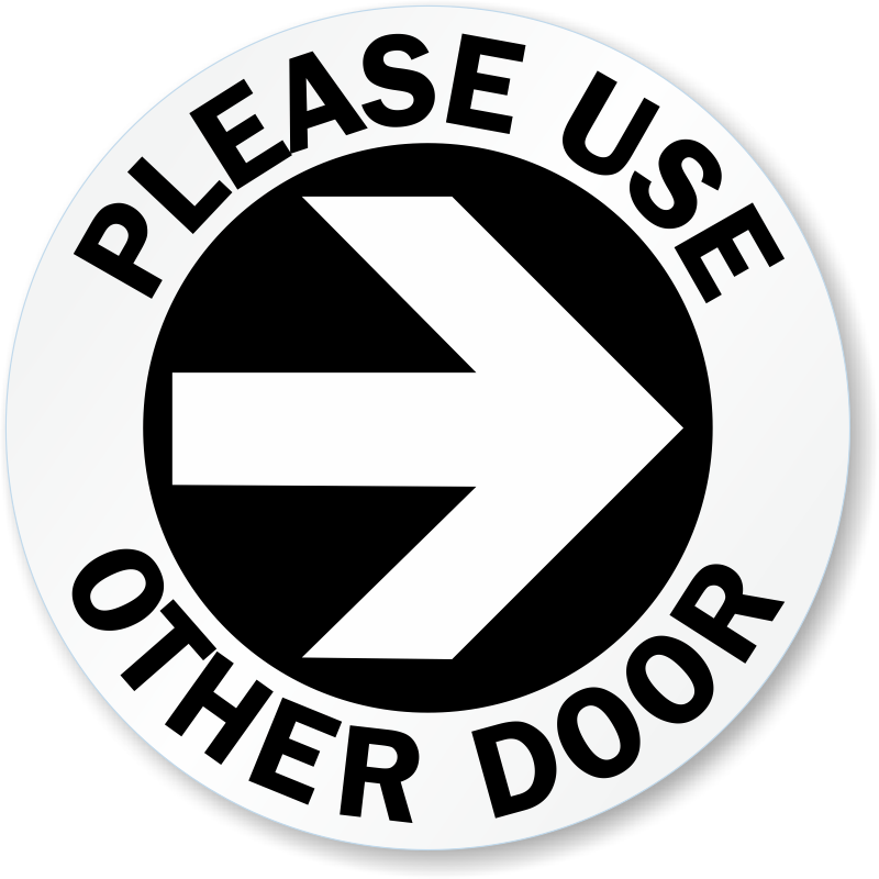 Stickers vector door. Use other signs from