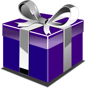 Vector present birthday. Presents free transparent gift