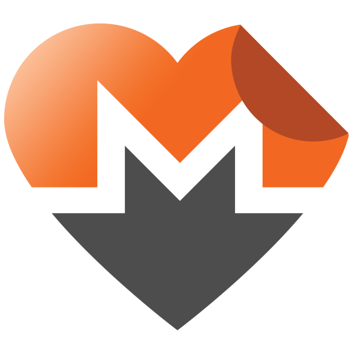 Vector stickers folded. Monero promotional graphics badges