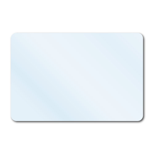 Stickers vector rectangular sticker. X crystal clear