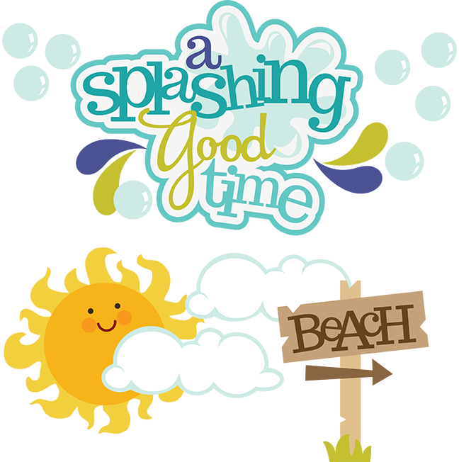 Stickers vector scrapbooking. A splashing good time