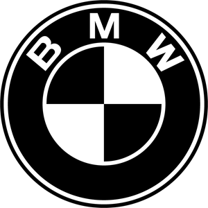 Stickers vector white. Bmw logo vectors free
