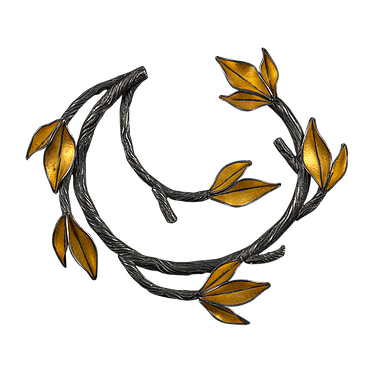 Sticks clipart twig leaves. A brooch made with