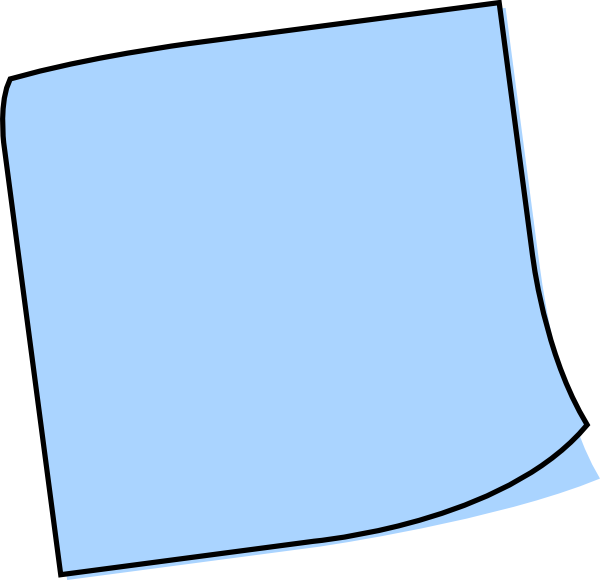 Blue post it note png. Free sticky cliparts download