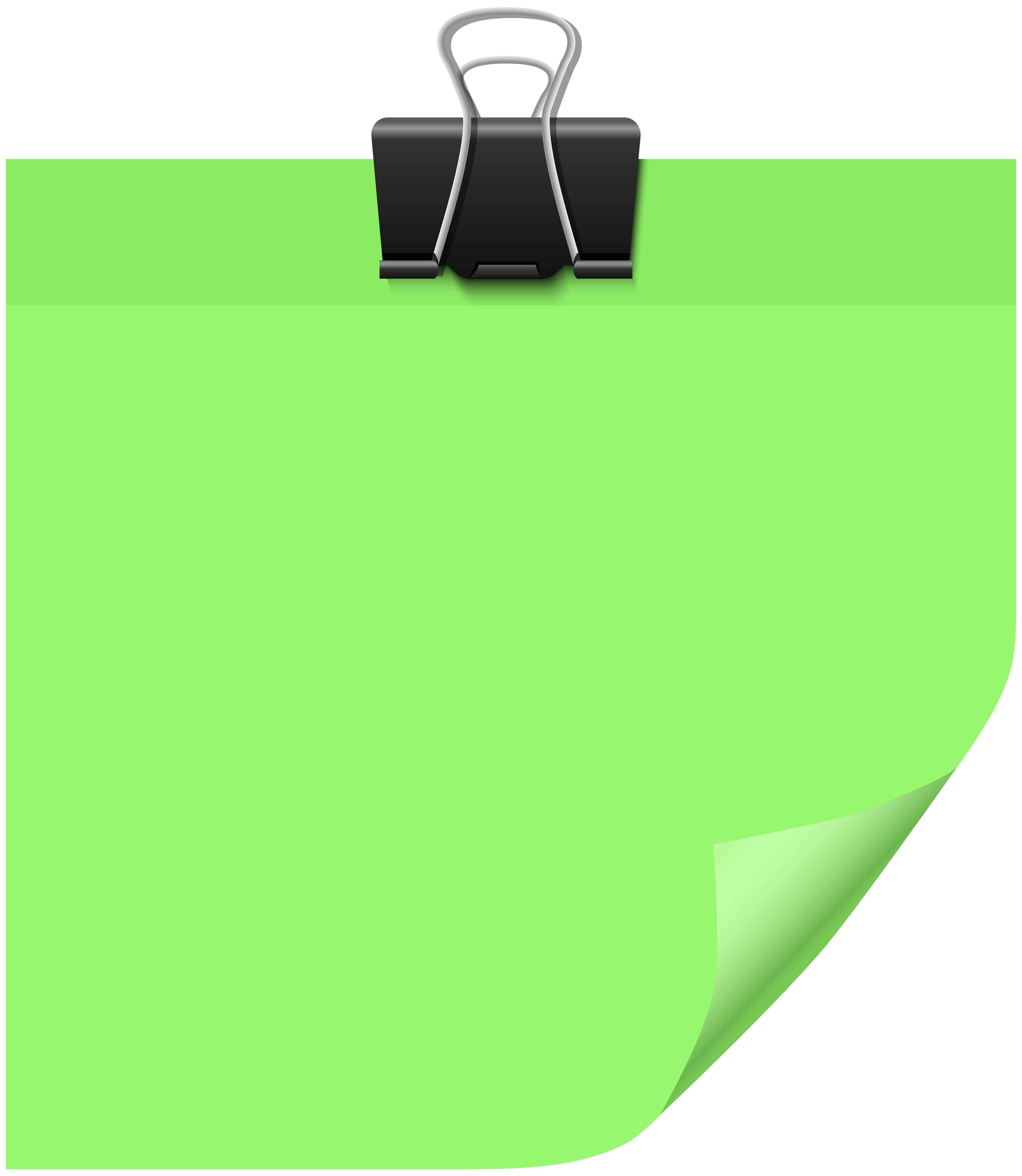 Png note. Sticky green clip art